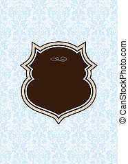 Vector Brown Frame and Blue Background