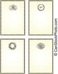 Vector Brown Frame Set
