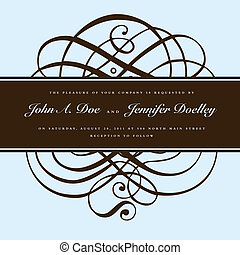 Vector Brown Ornament and Ornate Frame - Vector ornate...