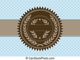 Vector Brown Seal and Seamless Pattern