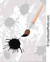 vector brush and blots