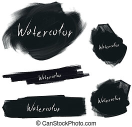 vector brush stroke set