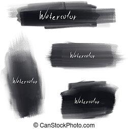 vector brush stroke set