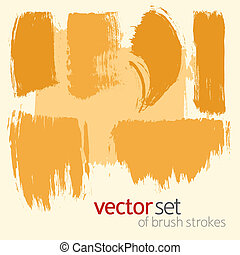 Vector  brush strokes, set 3