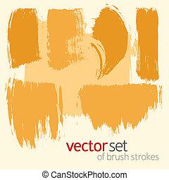 Vector  brush strokes, set 3 - Vector  brush strokes