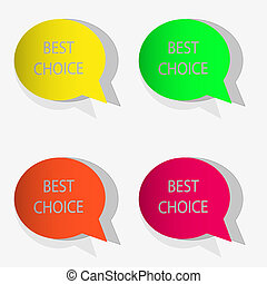 Vector bubble speech stickers set for your design