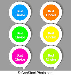 Vector bubble speech stickers set with place for your text