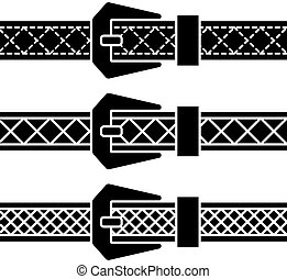 vector buckle belt black symbols