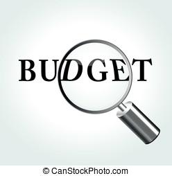 Vector budget theme illustration