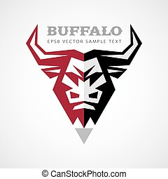 Vector buffalo head logo