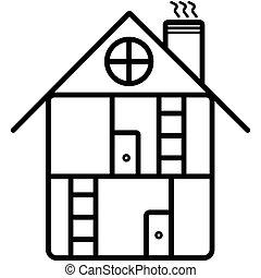 Vector building icon