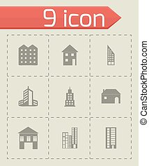 Vector building icons set