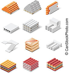 Vector building products icons. - Set of the icons...