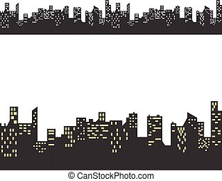 Vector building, seamless pattern