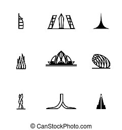Vector Buildings icon set