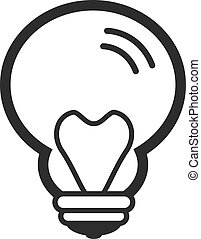 Vector Bulb Black Icon