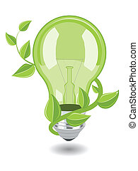 Vector bulb over white background. eps 8