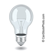 Vector bulb over white background