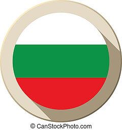 Bulgaria Flag Button Icon Modern