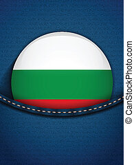 Bulgaria Flag Button in Jeans Pocket