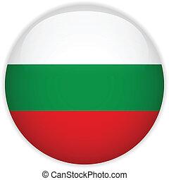 Bulgaria Flag Glossy Button - Vector - Bulgaria Flag Glossy...