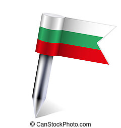 Vector Bulgaria flag isolated on white. Eps10
