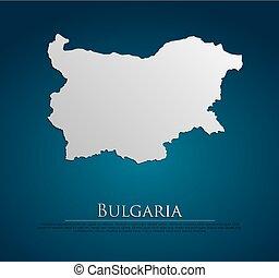 vector Bulgaria Map card paper