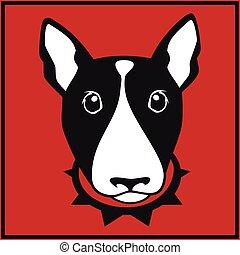 Vector bull terrier head