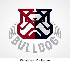 Vector bulldog head logo