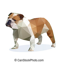 Vector Bulldog isolated on a white background