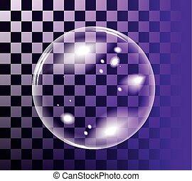 vector, burbuja, jabón