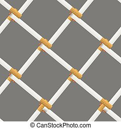 Vector Burning Cigarette Seamless Pattern