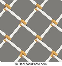 Vector Burning Cigarette Seamless Pattern
