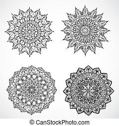 Vector Burst Ornaments