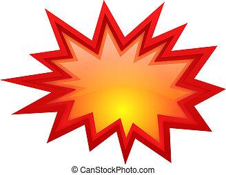 Vector bursting star illustration