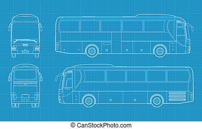 Vector bus - High detailed vector illustration of a...