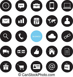 Vector Business and Ecommerce Icons Set