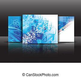 brochure template - vector business brochure template.