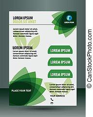 Vector business brochure template