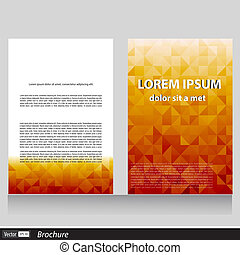 vector business brochure with space for text