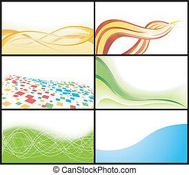 Vector business card; clip-art