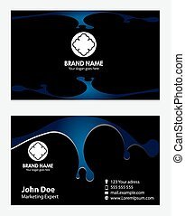 Vector business card set design