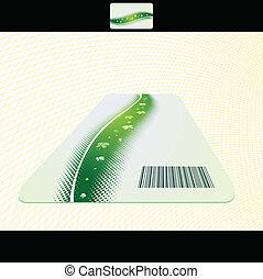 vector business card set, elements for design