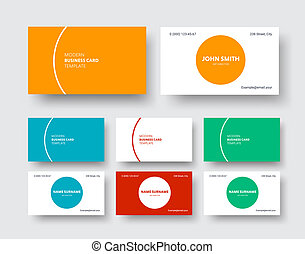 Vector business card template in a modern minimalist style with round and semi-high elements of the stroke
