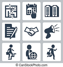 Vector business concept icons set