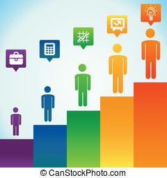 Vector business concept - men icons