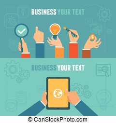 Vector business concepts in flat style - illustrations for...