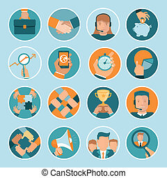 Vector business concepts in flat style - bright...