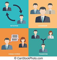 Vector business concepts in flat style
