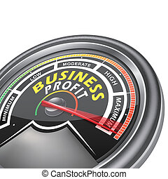 vector business conceptual meter indicator